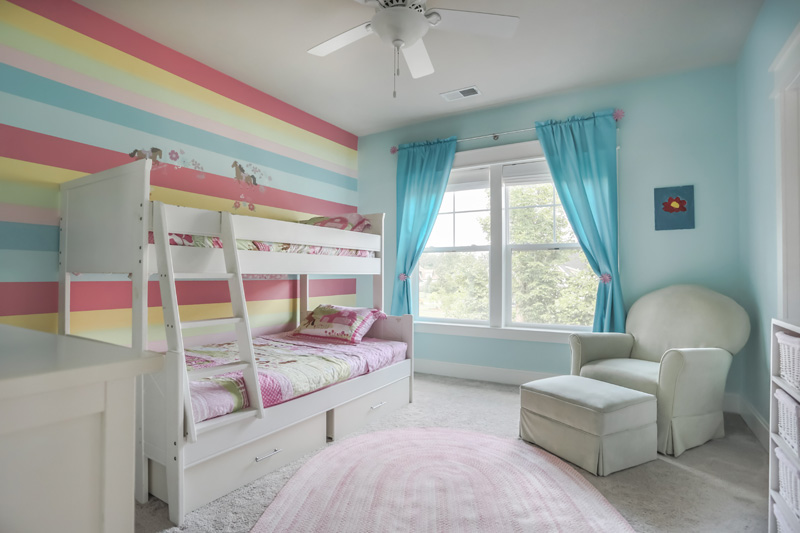 Real Estate Photography, little girls room with bunk beds