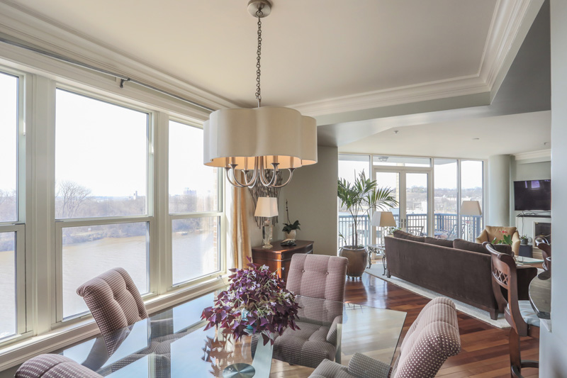 Real Estate Photography, dining room with a view
