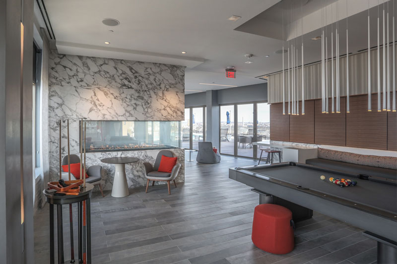 Commercial Photography & Videography, interior shot of sky rise house