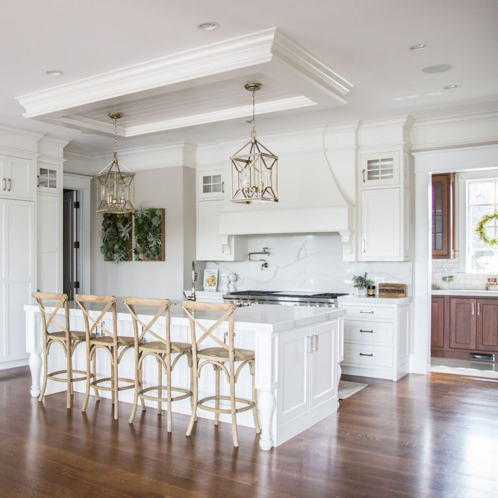 Commercial Photography & Videography, white and gold kitchen