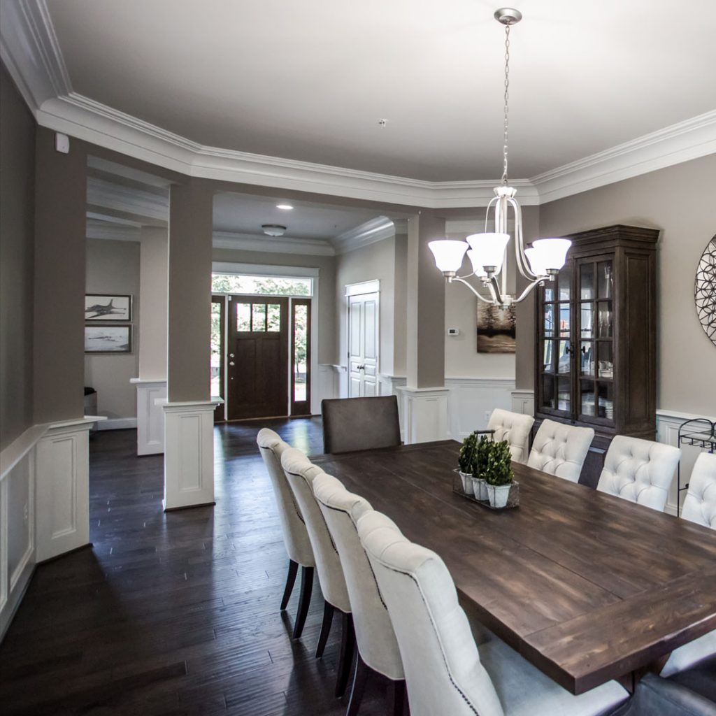 Commercial Photography & Videography, dark toned dining room